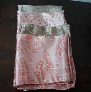 - Lot of 4 Silky Soft Scarves